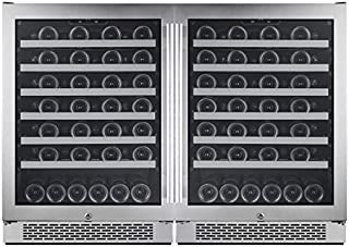 Avallon AWC241SZDUAL 54 Bottle + 54 Bottle Built-In Side-by-Side Wine Cooler