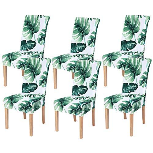 Smiry - Fundas de silla de comedor con impresión elástica, extraíble, lavable, para el hogar, cocina, fiesta, restaurante