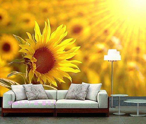 Fototapete Eine Benutzerdefinierte Wallpaper Landschaft Wandmalereien Tapete Im Schlafzimmer Tapete Idyllische Bilder Blume Wallpaper Sonnenblume Gelb