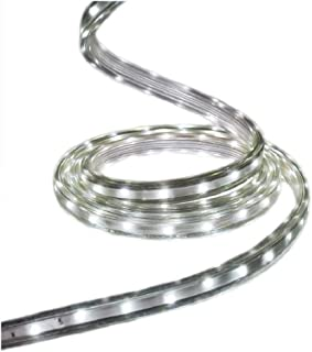 GE StayBright 216-Count 19.6-ft Multi-Function White Integrated Led Plug-in Christmas Rope Lights Clear Tubing 82162LO