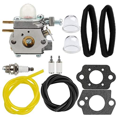 SNOWINSPRING WT-973 Kit de Ajuste del Carburador Filtro de Aire para Troybilt TB21EC TB22EC Desbrozadora de Hilo