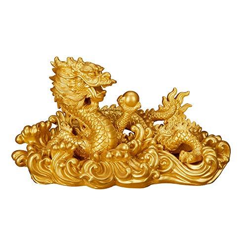 Somnrchun Feng Shui Gold Draak rijkdom bescherming beeldje figuur housewarming party felicitatie papieren gewicht geschenk wooncultuur koper ornamenten handwerk
