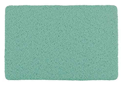 WENKO Alfombra de baño interior & exterior verde - Alfombra para ducha, baño, piscina, sauna con estructura antideslizante, Plástico, 40 x 60 cm, Verde