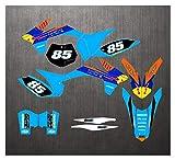 Wjyfexble Motocicletas Pegatinas Calcomanías Kit de gráficos para KTM ECC EXCV 2012 2013 SX SXF 125 200 250 300 400 450 2011 2012 WYJHN (Color : Yellow)