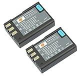 DSTE® 2x EN-EL9 Recargable Li-ion Batería para Nikon EN-EL9, EN-EL9A, D40, D40x, D60, D3000, D5000 Cámara
