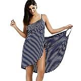 IAMZHL Talla Grande Toalla Textil para el hogar Batas de baño para Mujer Vestido de Toalla con Rayas usables Secado rápido Playa SPA Ropa de Dormir mágica Dormir-Navy Blue-8-XXL