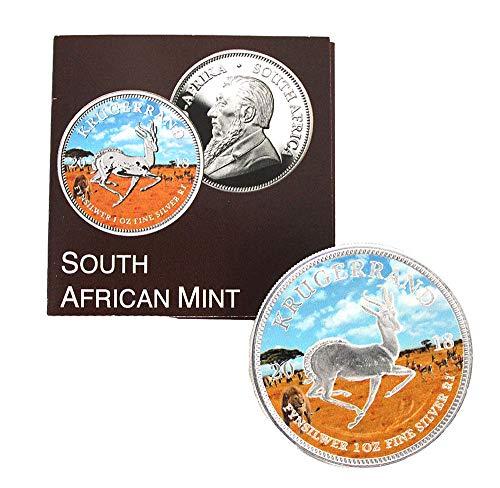 South African Mint Silbermünze 1oz Krügerrand 2018 Farbe PANGÄA Serie mit Zertifikat