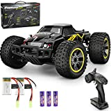 Remote Control Car, RC Racing High Speed Car,4WD All Terrains Waterproof Drift Off-Road Vehicle,2.4GHz RC Road Monster Truck Included 2 Rechargeable Batteries,Toy for Boys Teens Adults (Yellow)