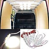 Ampper 12V 60 LEDs Van Interior Light Kits, Ceiling Lights Kit for Van RV Boats Caravans Trailers Lorries...
