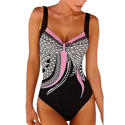 Find Discount Bikini Retro De Una Pieza Para Mujer Traje De Baño Push-Up De Cintura Alta Ropa De Pl...
