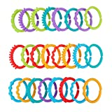 24pcs Baby Teether Ring Link Rings Toys Infant Links Rattle Strollers Crib Travel Toys