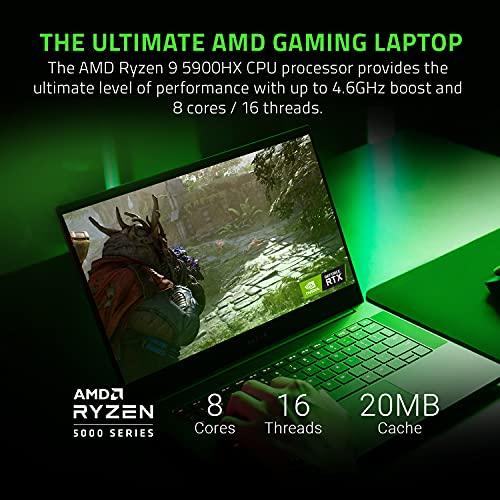 Razer Blade 14 Gaming Laptop: AMD Ryzen 9 5900HX 8 Core, NVIDIA GeForce RTX 3070, 14