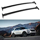 ROADFAR Roof Rack Aluminum Top Rail Luggage Carrier Fit for 2016 2017 2018 2019 Ford Explorer Baggage Rail Crossbars