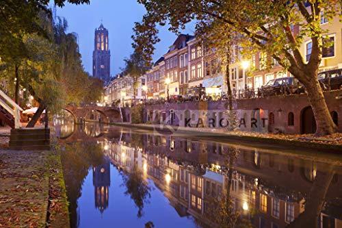 Karo-art - Schilderij - Utrecht skyline Domtoren - Canvas - Muurdecoratie