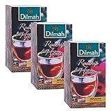 Té Dilmah de rosa mosqueta e hibisco - 20 bolsitas de té X 3 piezas - Infusión picante con acabado afrutado - Naturalmente libre de cafeína