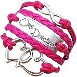 Inception Pro Infinite - Mädchen Armband - Armband - Herz - Musik - Multiwire - Herz - geflochten - eine Richtung - unendlich - Fuchsia Farbe