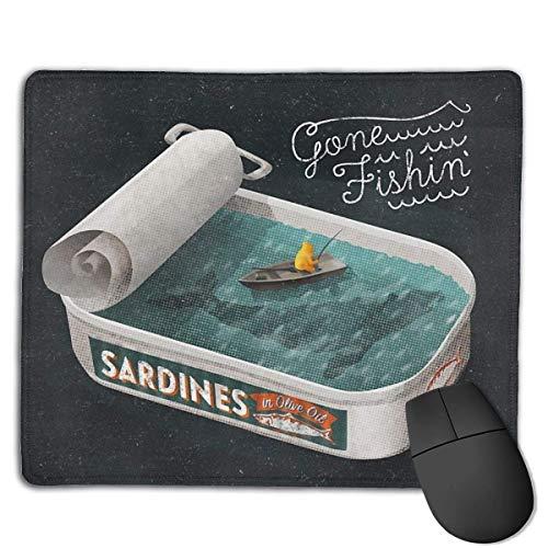 Gone Fishin' - Alfombrilla de ratón para videojuegos, superficie de goma antideslizante, para ordenador, teclado y escritorio, 9.8 x 11.8 pulgadas