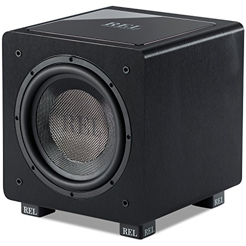 REL Acoustics HT/1003 Subwoofer, HT-Air Wireless kompatibel, Line Genined Black Composite