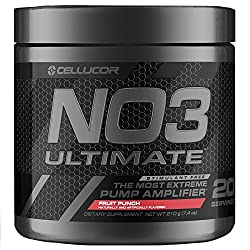 Cellucor NO3 Ultimate best stimulant-free preworkout supplement with arginine