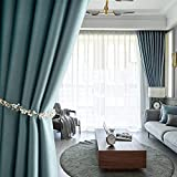 Curtain Thicken High End Blackout Curtains Eyelets Room Darkening Curtains 2 Panels for Livingroom Bedroom Kitchen W170xL190cm