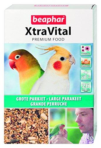 BEAPHAR – XTRAVITAL – Alimentation pour grande perruche – Contient des fruits, graines et œufs – Renforce le système immunitaire – Procure un beau plumage et maintient en bonne santé – 500g