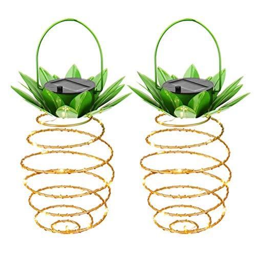 kashyk 2pcs LED Solar Lichterkette Garten Globe Außen Ananas-Lampe,Solar Beleuchtung Kugel für Party, Weihnachten, Outdoor, Fest Deko usw.