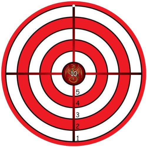BestSaller 1210 Zielscheibe Classic mit Drache aus Holz, Ø 32cm, rot/weiß (1 Stück)