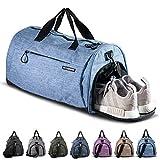 Fitgriff® Sporttasche Reisetasche mit Schuhfach & Nassfach - Männer & Frauen Fitnesstasche -...