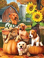 犬、大人の子供のための番号キットによるペイント DIY キャンバス家の装飾のためのフレームレスの絵画 -50x60cm