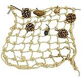 FOUTP Juguetes para pájaros Loro Red de Escalada Soporte para pájaros Columpio Cuerda Juguete para Mascotas Columpio para Loro pájaros domésticos Ejercicio (M)
