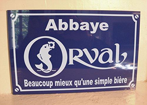 ORVAL bcp Mieux quune Simple Biere Plaque de Rue Création Cadeau Original