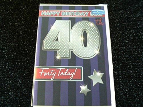 Preisvergleich Produktbild shop inc Xpress Yourself Son 40 heute! Mittlere Geburtstags-Karte