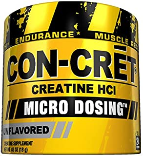 CON-CRET Creatine HCI Micro-Dosing Pre Workout Powder for Muscle Building, Endurance, and Recovery, 24 Servings, Unflavored