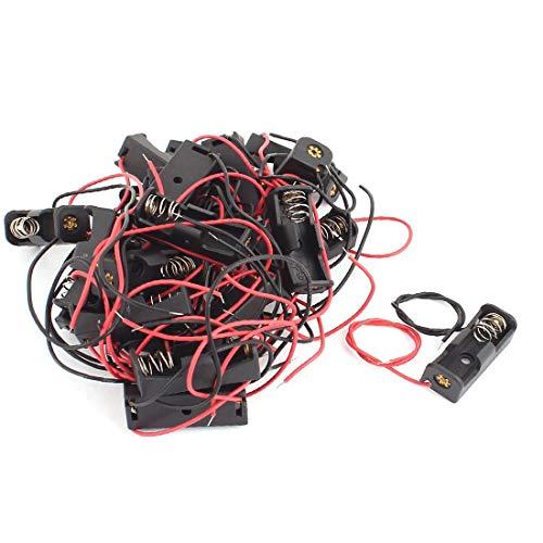 New Lon0167 22 stuks Plastic omhulsel 2-draads kabels Batterijen Houder Doos voor 12V 23A batterij(22 Stück Kunststoffschale 2-Draht-Kabel Batteriehalter Case Box für 12V 23A Batterie)