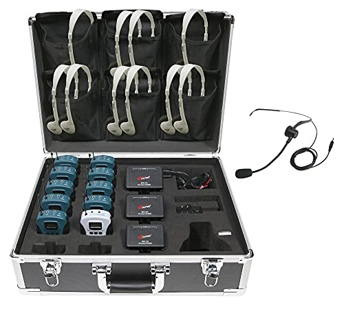 Califone WS-TG10 10-Person Tour Group System, Designed specifically for use in tour groups and meetings led by guides or docents