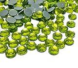 Perlin Hotfix 492 - Piedras de estrás (4 mm, SS16, 2880 Unidades, peridoto Verde, Calidad AAA, para Planchar)