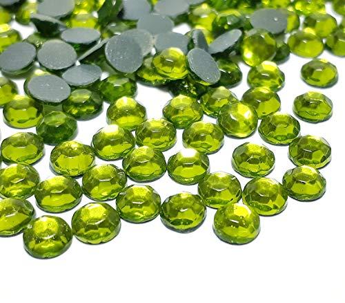 Perlin - Piedras de estrás Hotfix de 4 mm SS16, 2880 unidades, peridoto verde, calidad AAA, para planchar, piedras brillantes autoadhesivas de cristal 492