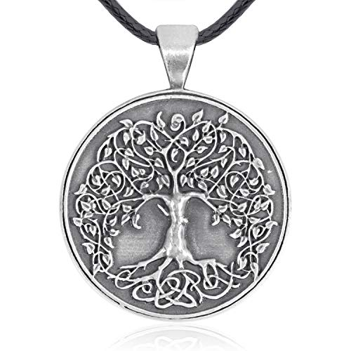 Namaste Jewelers Family Connection Symbol Tree of Life Pendant Necklace Pewter Jewelry