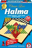 Schmidt Spiele 49217 Classic Line, Halma, mit großen Spielfiguren aus Holz, bunt