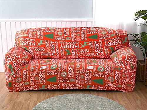 Soffskydd 1 2 3 4-sits mönster tryck röd jul överdrag soffa stretch elastisk polyester spandex möbelskydd skydd 1 sits: 90–140 cm