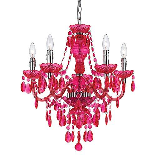 AF Lighting 8524-5H Fulton 5 Light Chandelier- Pink
