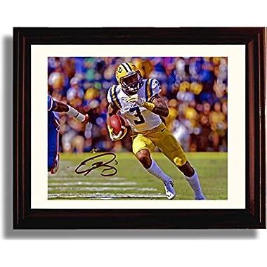 Framed LSU Tigers Odell Beckham Jr Autograph Replica Print