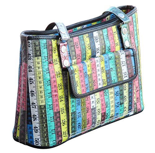 Handbag made of measuring tapes - upcycled recycled style eco friendly vegan tote satchel handbags bag purse gifts gift for fashion designer tape measure design teacher appreciation prime