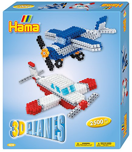 Hama 3242 Beads 3D Planes Craft Set, Bunt