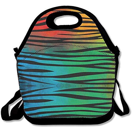 Winkeltas, Kleurrijke Zebra Print Lunch Bag Verstelbare riem