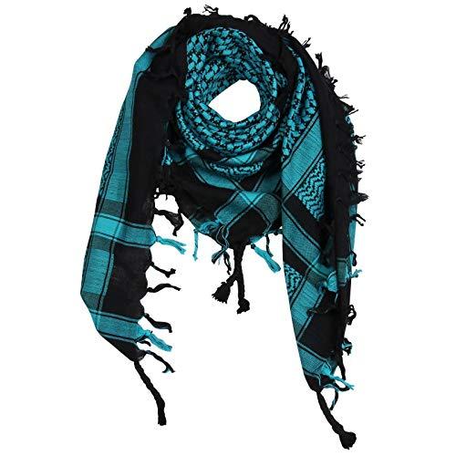 Superfreak Palituch - schwarz - türkis - 100x100 cm - Pali Palästinenser Arafat Tuch - 100% Baumwolle
