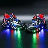 Zapatos de luz para niños, con luz LED, casual, ligeros, transpirables, talla...