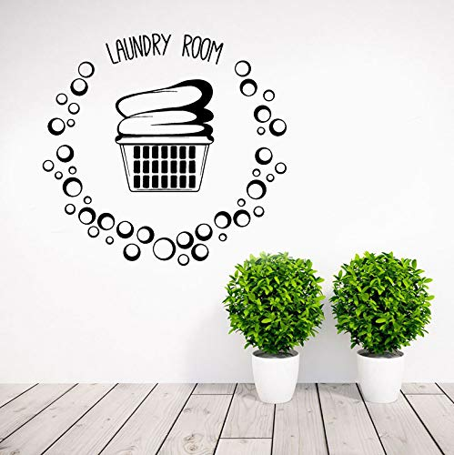Cesta para lavandería, ropa, burbujas, pegatinas de pared, arte, decoración del hogar, murales impermeables extraíbles, calcomanías modernas A6 44x42cm