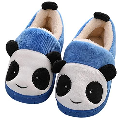 Zapatillas de Estar por Casa para Niñas Niños Invierno Zapatillas Interior Casa Caliente Pantuflas Suave Algodón Calentar Zapatilla Mujer Hombres Azul 25-26 EU (Fabricante: 18-19)