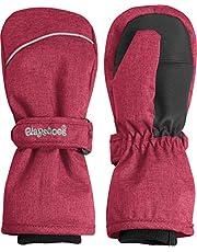 Playshoes Unisex Kinder Fäustling warme Winter-Handschuhe mit Klettverschluss